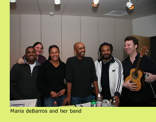 Maria deBarros and her band